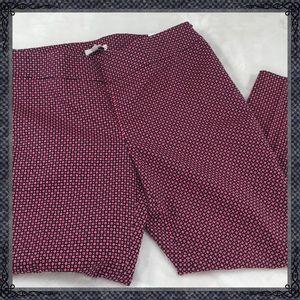 Loft petites Marisa Ankle cropped pants size 8